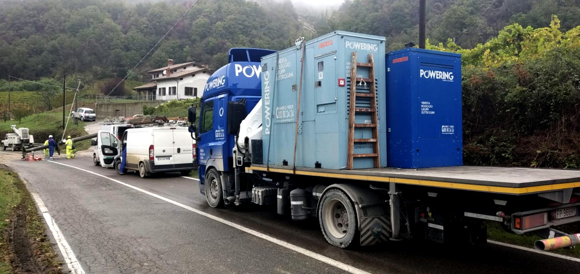 noleggio generatori di corrente