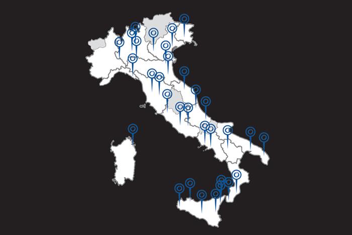 Le sedi Powering in tutta Italia